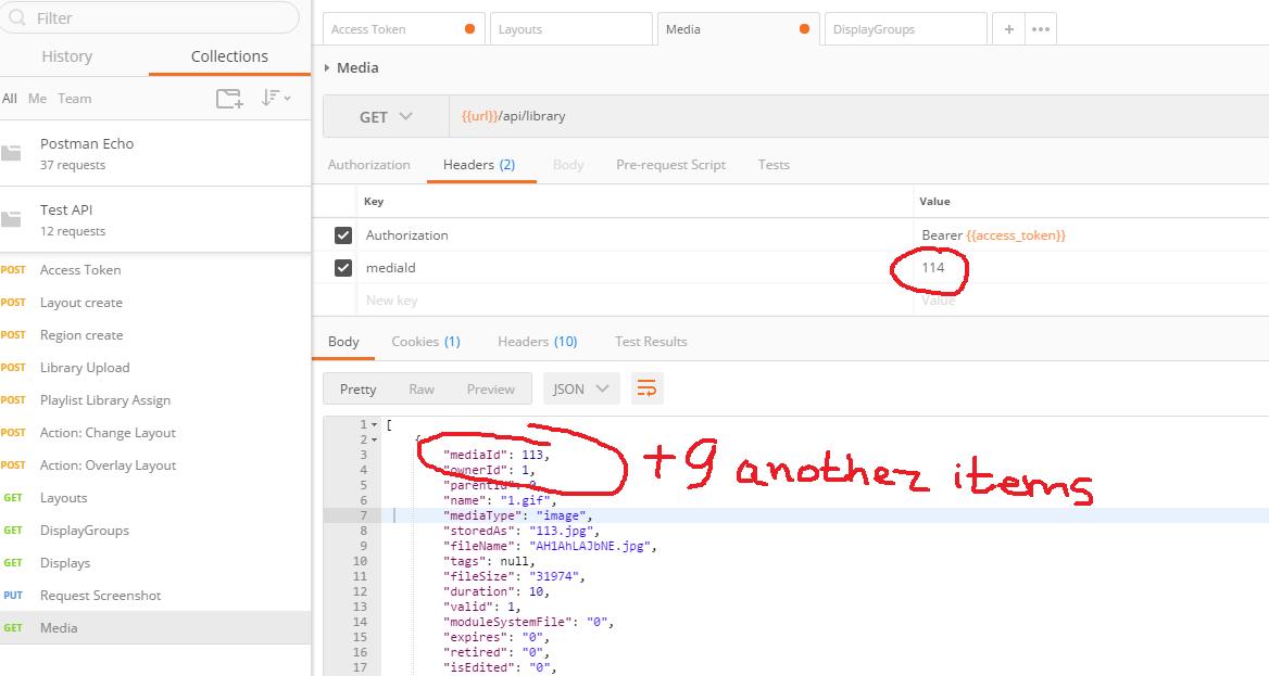 API: /api/library - set parameters - Dev - Xibo Community