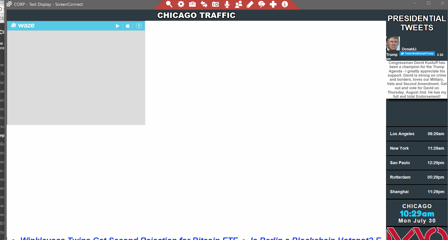 Waze iframe Showing Blank On Player - Support - Xibo Community