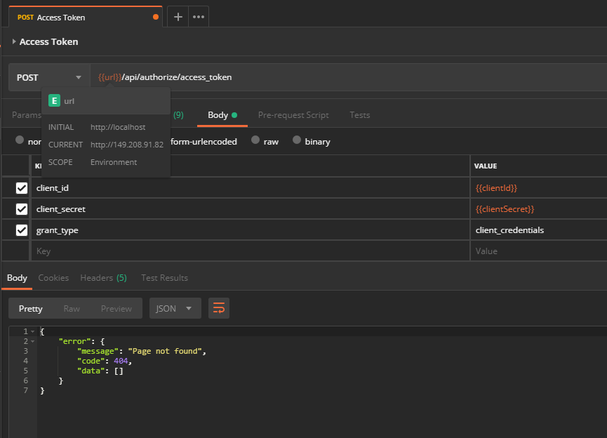 Postman API Tutorial -> 404 with access_token - Dev - Xibo Community