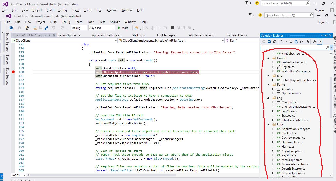 Debugging Xibo client 1 8 2 in visual studio - Dev - Xibo Community