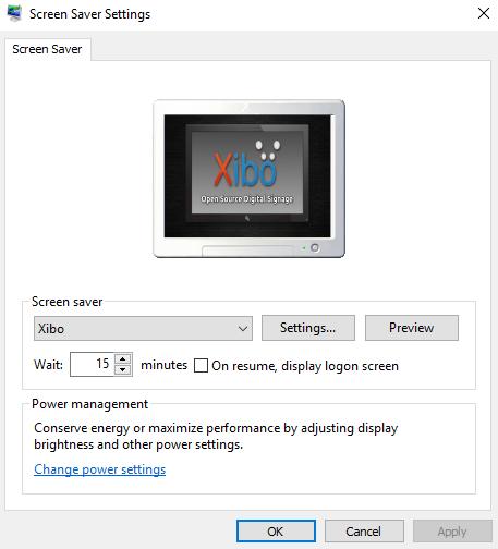 Windows Player - Screen Saver | Xibo Open Source Digital Signage