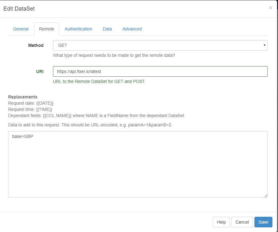 Data Set -> Remote data source - Support - Xibo Community