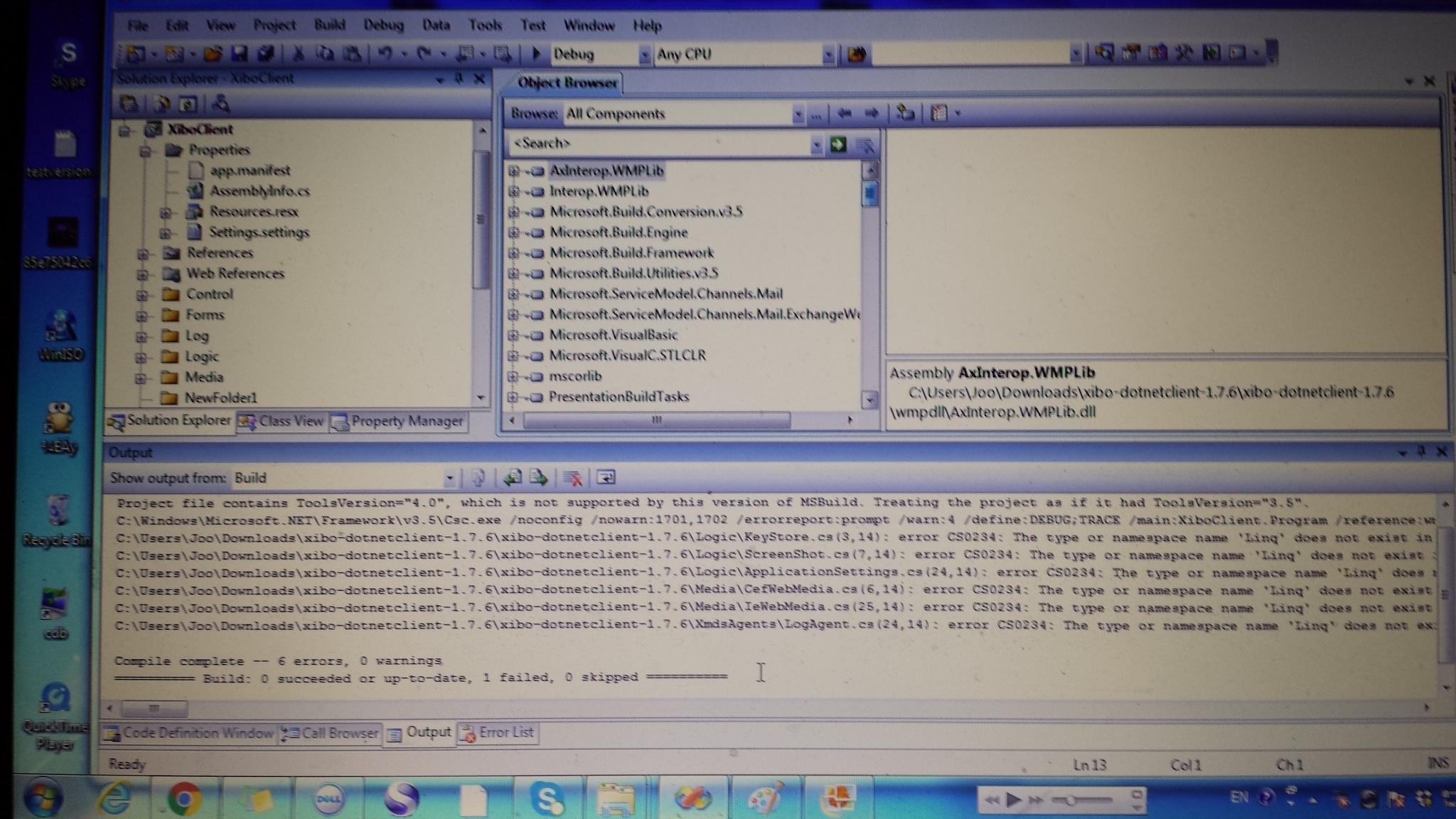 Compile Window Net Player - Dev - Xibo Community