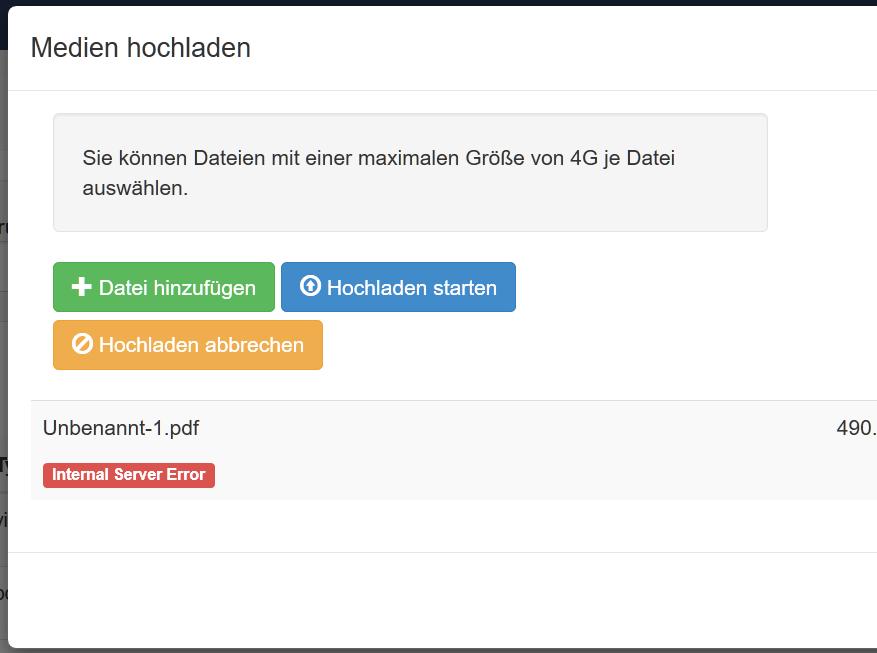 Xibo Docker 1 8 11 large file uploads fail with